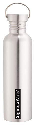 Signoraware Mac Single Walled Stainless Steel Fridge Water Bottle, 1 Litre, Silver Price & Reviews