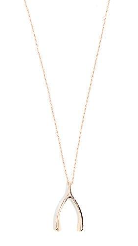 Jennifer Meyer Jewelry Women's 18k Rose Gold Wishbone Necklace, Rose Gold, One Size