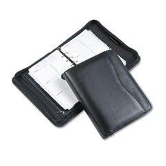 * Verona Leather Zippered Organizer Starter Set, 5-1/2 x 8-1/2, Black