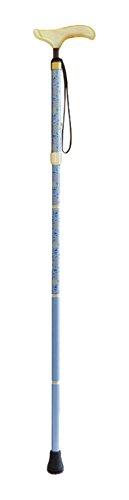 シナノ カイノスT-1花KOMON 折りたたみ杖 ブルー B016I7RQTQ
