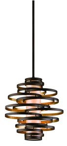 Corbett Lighting Bronze (Corbett 28574340 Corbett Two Light Bronze/Gold Leaf Down Pendant - 782042972148)