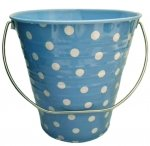 6 pack Metal Bucket L. Blue w/ Dot 4.3 x 4.3