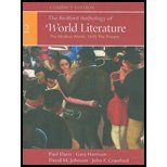 The Bedford Anthology of World Literature (the modern world, 1650-the present, volume 3-compact edit