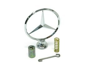 Mercedes w114 w115 Hood Emblem Star +Mount Kit GENUINE front engine lid logo bonnet insignia ornament