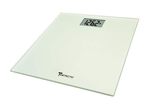 (Detecto D107 Low Profile Body Weight Bathroom Scale, Digital LCD Display, 400lb Capacity,)