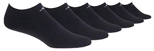 adidas Women's Athletic No Show Sock (6-Pair), Black/Aluminum 2, Medium, (Shoe Size 5-10) from adidas