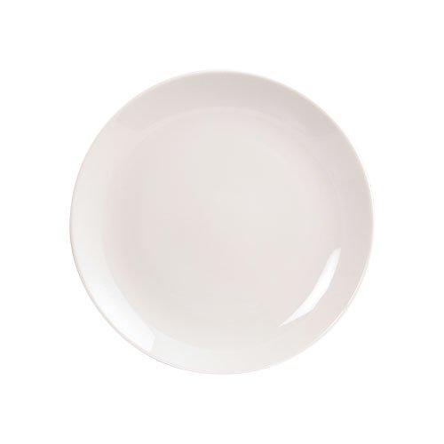 Fairmont & Main 27 cm Vitrified Porcelain Arctic Coupe Dinner Plates, Set Of 4, White