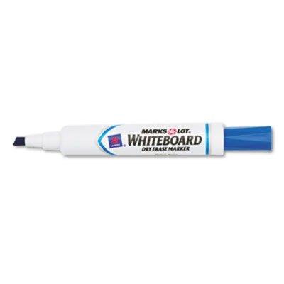 Marks-A-Lotamp;reg; - Desk Style Dry Erase Marker, Chisel Tip, Blue, Dozen - Sold As 1 Dozen - Bold, low-odor ink provides high visibility from a (Reg Chisel Tip Whiteboard Marker)