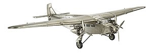 Ford Trimotor - Authentic Airplane Model - Features Metal Sheet Covered Frame - Functioning Ailerons and Tail Rudder - Stand Included - Authentic Models AP452