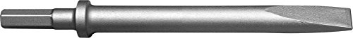 Champion Chisel, 12-Inch Long .580 Hex Shank Round Collar Chipping Hammer Narrow, Flat Chisel by Champion Chisel Works