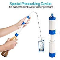 Bingtu Mini Portable Purifier Personal Water Filter Emergency Preparedness Kits Hiking Camping Travel Outdoors (01#)