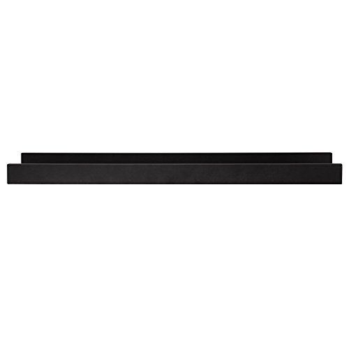 Kiera Grace Edge Picture Frame Ledge, 23-Inch by 4-Inch, Black
