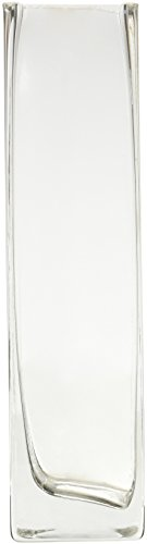 Vase Square 8 (WGV Clear Square Bud Block Glass Vase, 2 by 8-Inch)