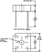 1PH NTE ELECTRONICS NTE5315 BRIDGE RECTIFIER 8A 600V THD 10 pieces