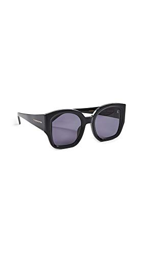Karen Walker Women's Alternative Fit Checkmate Sunglasses, Black/Smoke Mono, One ()