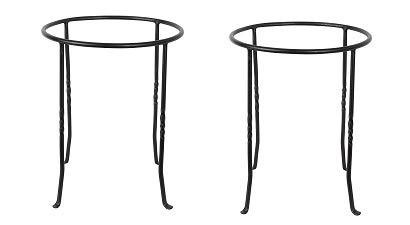 Black Achla Designs FB-14 Ring Wrought Iron Metal Plant birdbath Bowl Stand Flowerpot Holder
