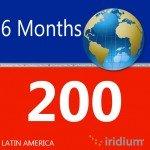 Iridium Global Prepaid Airtime SIM Card (200 Minutes (Latin America)) by iridium