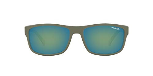 - Arnette Men's Lastarria Rectangular Sunglasses, Matte Military Green, 58 mm
