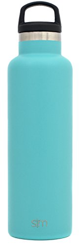 Simple Modern Ascent Water Bottle Narrow Mouth, Vacuum Insulated, Double Wall, 18/8 Stainless Steel Powder Coated 5 Sizes, 22 Colors