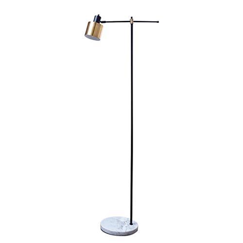 (B.YDCM Floor lamp Bedroom Living Room Reading lamp American Vertical Table lamp Wrought Iron Metal -547 Floor lamp)