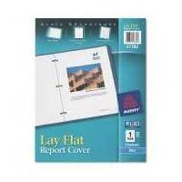 Avery 47780 Cubierta plana para reportes, 3 sujetadores, 1/2 tapa, 8.5 x 11, Azul, 1 /cada uno
