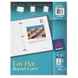 Avery 47780 Lay Flat Report Cover, 3-Fasteners, 1/2 Cap, 8.5 x 11, Blue, 1/Each