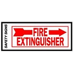 Hy-Ko #FE-2R 4x10 Fire Extinguisher Sign Right Arrow