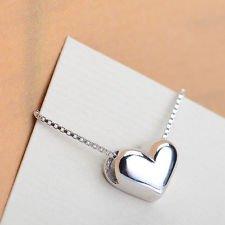 jacob alex #40589 Women Choker 3D Locket Love Heart Pendant Necklace 18