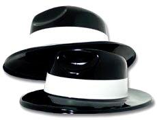 [Black Gangster Hats per dozen] (Gangster Hats For Sale)