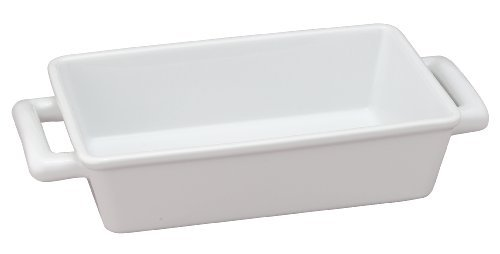 Individual Lasagna Dish (HIC Oblong Rectangular Baking Dish Roasting Individual Lasagna Pan, Fine White Porcelain, 8.5-Inches x 5.5-Inches x 2.5-Inches by HIC Harold Import Co.)