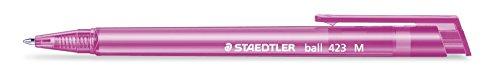 Schaft in Schreibfarbe 8 St/ück im Polybeutel 0.45 mm Staedtler 42335MPB8 Druckkugelschreiber Linienbreite M