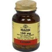 Solgar - La niacine (vitamine B3), 100 mg, 100 comprimés