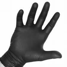 Akers Black Powder Free Nitrile Gloves 5 mil Thick Large (1 box 100 gloves) by Akers by Akers