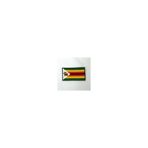ZIMBABWE COUNTRY FLAG IRON-ON PATCH CREST BADGE 1.5 X 2.5 IN