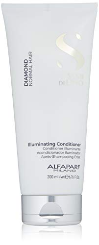 (Alfaparf Milano Semi Di Lino Diamond Shine Illuminating Hair Conditioner - Sulfate Free - For Normal Hair - Safe on Color Treated Hair - Paraben and Paraffin Free -Professional Salon Quality)