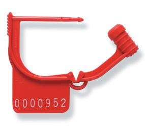 TydenBrooks Security Products, Handilok HL-8 Padlock Seal, Plain, Red, 1000 Count