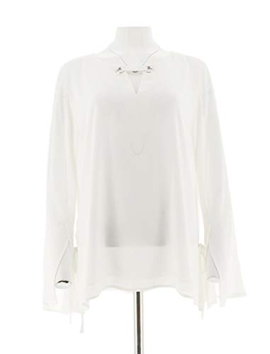 Laurie Felt Blouse Link Neck White L New A301702 from Laurie Felt