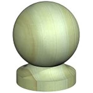 75mm Bases 3 8 Green Treated Acorn Finial Wooden Fence Post Caps /& 4 100mm