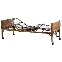 Invacare Value Care Semi-Electric Bed Package - VC5310 Bed, 6630 Half Rails, and 5185 Innerspring Mattress - (Invacare Value Care)