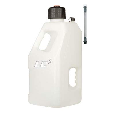 LC LC2 Utility Jug with 12'' Filler Hose 5 Gallons White