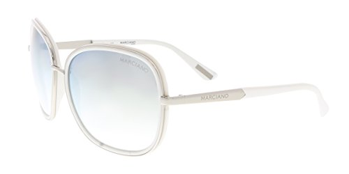 Guess by Marciano GM0734 06C White/Silver Rectangular - Guess Sale Sunglasses