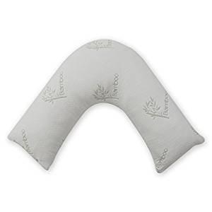 Orthopaedic Bamboo V Shaped Memory Foam Pillow Nursing, Pregnancy and Medical Support By Egypto
