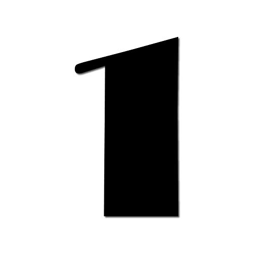 Floating HOUSE NUMBER 'Broadway' 1 | 3 Sizes (15cm/5,9'', 20cm/7,8'', 25cm/9,8'') | incl. hidden fixings & instructions | modern look | easy to fit, Colour:Black, Size:20cm / 7.9' / ()