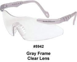 (Smith & Wesson Clear Safety Glasses, Scratch-Resistant, Frameless)