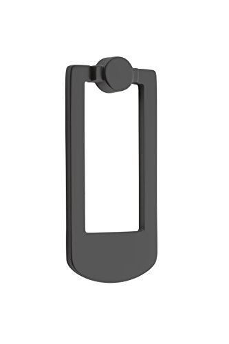 Baldwin 9BR7002-010 Reserve Contemporary Door Knocker in Satin Black,