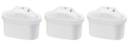 AmazonBasics Wasserfilterkartuschen - 3er Pack (kompatibel mit Brita Maxtra)