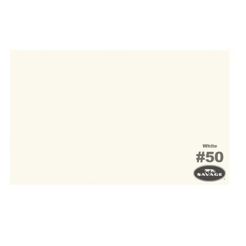 Savage Seamless Background Paper, 107 inches wide x 12 yards, White, 50