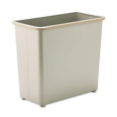 Safco Products 9616SA Rectangular Wastebasket, 27 1/2-Quart, Sand