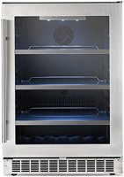 """Danby DBC056D4BSSPR 24"""" Silhouette Professional Series Saxony Single Zone Beverage Center with 5.6 cu. ft. Capacity"""