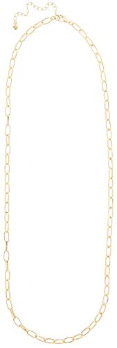 (Wearable Art by Roman Gold Tone Oval Link Chain Necklace Gold Tone)
